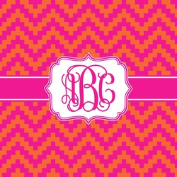 Pink & Orange Chevron