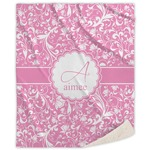 Floral Vine Sherpa Throw Blanket (Personalized)