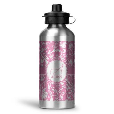 Floral Vine Water Bottle - Aluminum - 20 oz (Personalized)