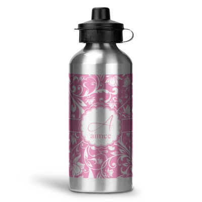 Floral Vine Water Bottle - Aluminum - 20 oz (Personalized)
