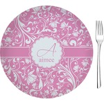 Floral Vine Glass Appetizer / Dessert Plates 8