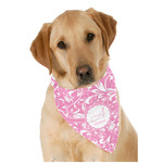Floral Vine Dog Bandana Scarf w/ Name and Initial