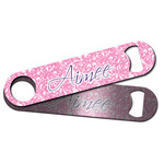 Floral Vine Bar Bottle Opener w/ Name and Initial