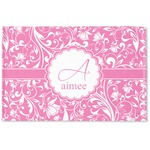 Floral Vine Woven Mat (Personalized)