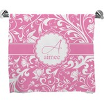 Floral Vine Full Print Bath Towel (Personalized)