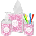 Floral Vine Acrylic Bathroom Accessories Set w/ Name and Initial