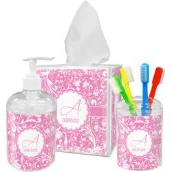 Floral Vine Bathroom Accessories Set (Personalized)