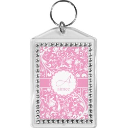 Floral Vine Bling Keychain (Personalized)