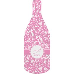 Floral Vine Bottle Shaped Cutting Board (Personalized)
