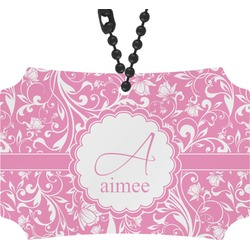 Floral Vine Rear View Mirror Ornament (Personalized)
