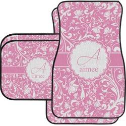 Floral Vine Car Floor Mats Set - 2 Front & 2 Back (Personalized)