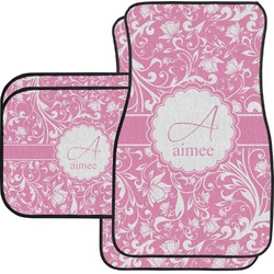 Floral Vine Car Floor Mats Set - 2 Front & 2 Back (Personalized)