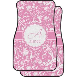 Floral Vine Car Floor Mats (Front Seat) (Personalized)