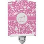 Floral Vine Ceramic Night Light (Personalized)