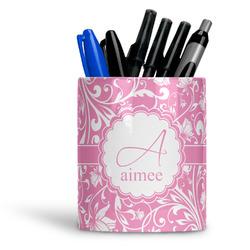 Floral Vine Ceramic Pen Holder