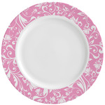 Floral Vine Ceramic Dinner Plates (Set of 4) (Personalized)