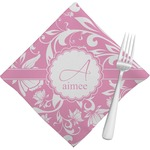 Floral Vine Napkins (Set of 4) (Personalized)