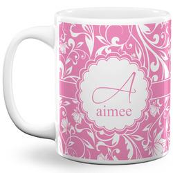 Floral Vine 11 Oz Coffee Mug - White (Personalized)