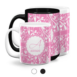 Floral Vine Coffee Mugs (Personalized)