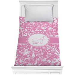Floral Vine Comforter - Twin (Personalized)
