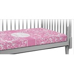 Floral Vine Crib Fitted Sheet (Personalized)