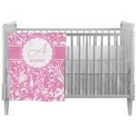 Floral Vine Crib Comforter / Quilt (Personalized)