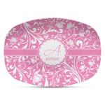 Floral Vine Plastic Platter - Microwave & Oven Safe Composite Polymer (Personalized)