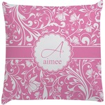 Floral Vine Decorative Pillow Case (Personalized)