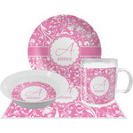 Floral Vine Dinner Set - 4 Pc (Personalized)