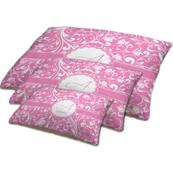 Floral Vine Dog Bed w/ Name and Initial