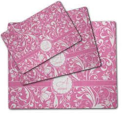 Floral Vine Dog Food Mat w/ Name and Initial