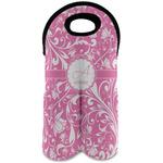 Floral Vine Wine Tote Bag (2 Bottles) (Personalized)