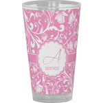 Floral Vine Drinking / Pint Glass (Personalized)