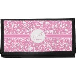 Floral Vine Canvas Checkbook Cover (Personalized)