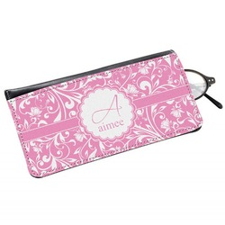 Floral Vine Genuine Leather Eyeglass Case (Personalized)