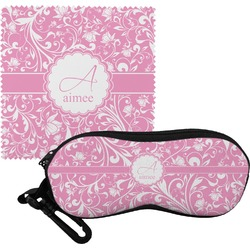 Floral Vine Eyeglass Case & Cloth (Personalized)