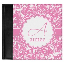 Floral Vine Genuine Leather Baby Memory Book (Personalized)