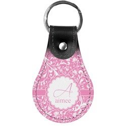 Floral Vine Genuine Leather  Keychain (Personalized)