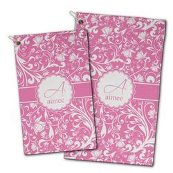 Floral Vine Golf Towel - Full Print w/ Name and Initial