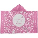 Floral Vine Kids Hooded Towel (Personalized)