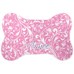 Floral Vine Bone Shaped Dog Food Mat (Personalized)