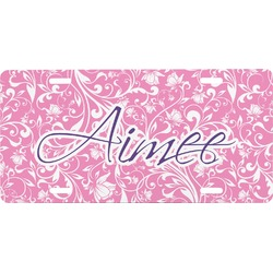 Floral Vine Front License Plate (Personalized)