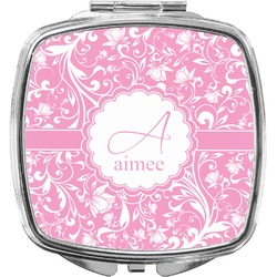Floral Vine Compact Makeup Mirror (Personalized)