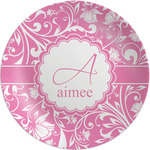 "Floral Vine Melamine Plate - 8"" (Personalized)"