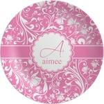 Floral Vine Melamine Plate (Personalized)