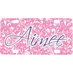 Floral Vine Mini / Bicycle License Plate (Personalized)