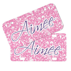 Floral Vine Mini/Bicycle License Plates (Personalized)