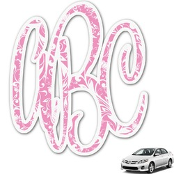 Floral Vine Monogram Car Decal (Personalized)