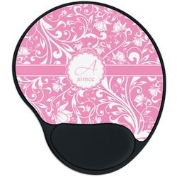 Floral Vine Mouse Pad with Wrist Support