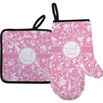 Floral Vine Oven Mitt & Pot Holder (Personalized)
